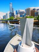 Yarra Promenade And Downtown Melbourne