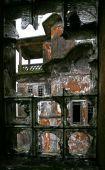 Window In Abandoned Hotel. Bokor Hill Station Near Kampot. Cambodia.