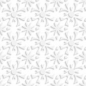 Simple Geometrical White Repainting Flowers Seamless