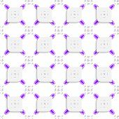 White And Purple Small Rectangle Gropes And Perforated Leaves Seamless