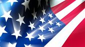 stock photo of shooting stars  - American Flag 0112 - JPG