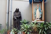 KOLKATA, INDIA - NOV 25, 2012: Statue of Blessed Teresa of Calcutta, commonly known as Mother Teresa (26 Aug 1910 - 5 Sep 1997), was Catholic missionary who lived for most of her life in India