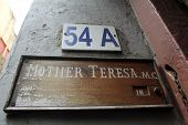 KOLKATA,INDIA - NOV 25: Sign on the entrance to Mother House, the residence of Mother Teresa in Kolk