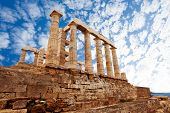 image of poseidon  - Temple of Poseidon on cape Sounion - JPG