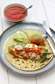 chile relleno (stuffed chili) tacos, mexican cuisine