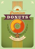 Donuts poster design. Vector illustration.