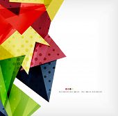 Vector 3d geometric shape abstract futuristic background, layout, poster or brochure design