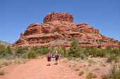 Visitors enjoy Red Rock State Park