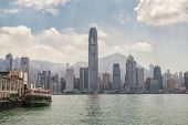 HONG KONG - SEPTEMBER 2: Star Ferry leaving Central pier on September 2, 2013 in Hong Kong, China. S