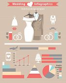 Wedding Infographics Set.wedding Clothing