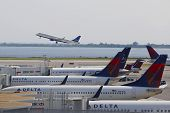 JetBlue Embraer 190 taking off from JFK Airport in New York