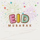 Beautiful greeting card design for muslim community festival Eid Mubarak celebrations.