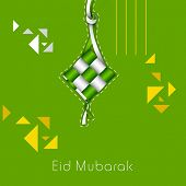 Muslim community festival Eid Mubarak celebrations greeting card design.