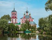 Russian landscape with church