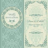 image of ring-dove  - Antique baroque wedding invitation - JPG