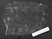 Unclean Blackboard With Chalk
