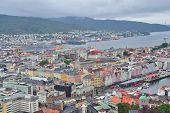 Norway. Top-view Of Bergen