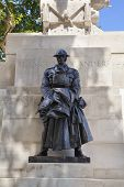 LONDON, UK - JUNE 3, 2014: War monument in front of Triumph Wellington Arch in London