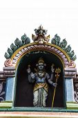 stock photo of shiva  - Statue of Lord Shiva at the entrance of a Hindu temple - JPG
