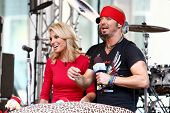 NEW YORK-JUL 18: Bret Michaels (R) and Elisabeth Hasselbeck at Fox and Friends' All-American Summer