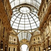 MILAN, ITALY - June 8:  Vittorio Emanuele II shopping gallery on June 8, 2014.  Built in 1875, this