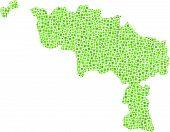 Isolated map of Hainaut - Belgium -