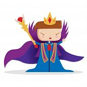 stock photo of scepter  - A young king ruling with a scepter - JPG