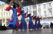 ZAGREB, CROATIA - JULY 16: Members of folk groups Egyptian National Folklore Troupe from Egypt durin