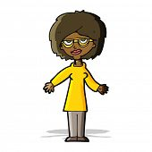 cartoon woman wearing glasses