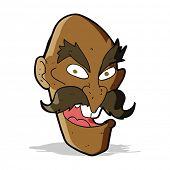 cartoon evil old man face