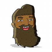 cartoon laughing bearded man