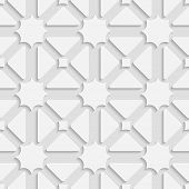White Triages And Stars With Shadow Tile Ornament