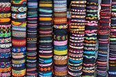 picture of loom  - Big selection of Friendship band loom bracelets on display - JPG