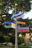 Orlando Directional Sign Post