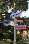 Orlando Directional Sign Post