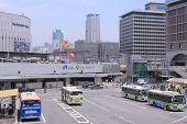 JR Osaka Station and bus terminal Japan