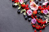 summer berries and flowers