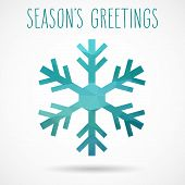 Geometric Snowflake And Season's Greetings