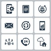 Set of communication contact us icons