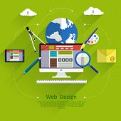 Web design. Program for design and architecture.