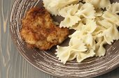 Chicken Meat With Pasta Farfalle