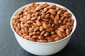 Almond Nuts In White Bowl