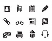 Silhouette internet and website icons