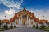 Famous Thai Temple Wat Benjamaborphit, Bangkok