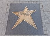 Star For Henryk Kluba In Lodz, Poland
