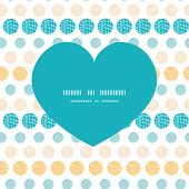 Vector texture circles stripes abstract heart silhouette pattern frame