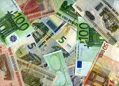 Background. Euro Banknotes And Belarus Rubles