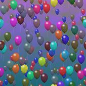Party Balloons Generated Hires Texture