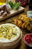 Baked Camembert With Garlic & Rosemary