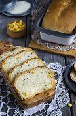 Slices of corn bread